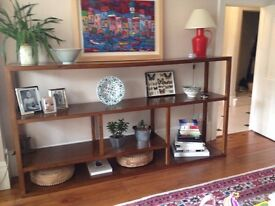 Stunning Solid wood book/display shelving unit
