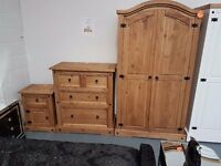 Brand New 3 Piece High Quality Pine Bedroom Set. Already Built And Can Deliver.