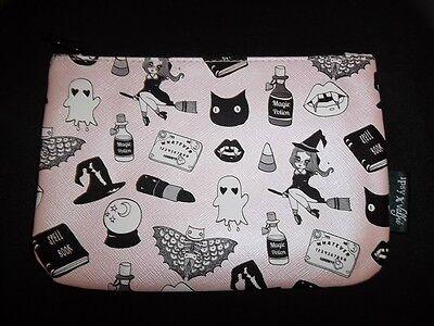 Ipsy October 2016 Valfrie Black Magic Halloween Makeup Bag Pink Cat Witch Ghost (Halloween Witch Makeup)