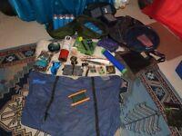 Fishing gear (job lot) Korda Subline, carp sack, lots of gas canisters, cooker, keepnet, etc