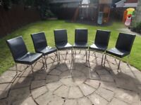 SET OF 6 DINING CHAIRS - £100.00 ONO