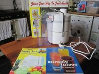 New + Boxed JUICER with books
