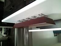 flotting shelf with wine bottle rack