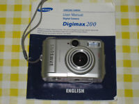 Samsung Digimax 200 Vintage 2.1MP Compact Point & Shoot Digital Camera