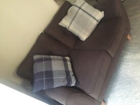 Brown Fabric 3 + 2 Seater Sofas BRAND NEW, good quality