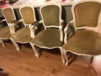 Beautiful shabby chic chairs x 4
