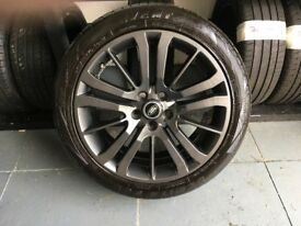 ALLOYS X 4 OF 20 INCH GENUINE RANGEROVER HSE FULLY POWDERCOATED IN A STUNNING NEW SPEC OF ANTHRACITE