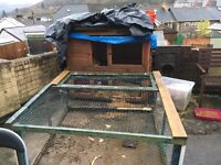 Rabbit hutch with home made run available