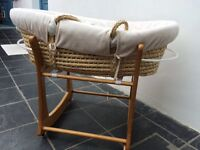 Moses basket and Baby Weavers rocking stand