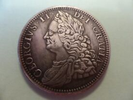 1716 George 2nd replica Crown coin.