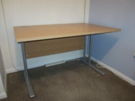 Straight Beech Cantilever Desk (1200mm x 800mm) - as new condition