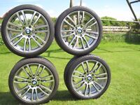 "Set of new/pristine BMW alloys (19"" 403M-Sport) with good Bridgestone Potenza run flat tyres"