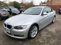 2008 BMW 320D AUTO 177BHP,COUPE,100K, RED LEATHER INTERIOR, M SPORT ALLOYS, 1 YEAR MOT, NO ACCIDENTS