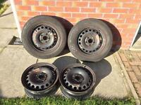 VW Volkswagon 5 stud steel wheels - will sell singles or as set