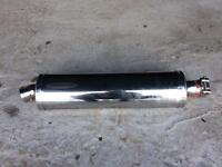 Motorcycle exhaust end can