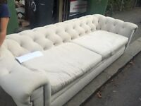 Free white chesterfield sofa