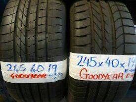 """**sale** WIDE SELECTION 19"""" TYRES 6mm+ treadALL £45 EACH SUP & fittd 7dys (punct £10 opn sunday 4pm"""
