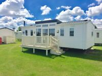 Unique willerby summer house static caravan holiday home for sale with UPVC decking east lincs coast
