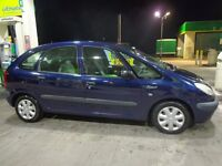 2002 1 owner citroen xsara picasso 2.0 hdi diesel with service history+mot+tax DRIVEAWAY OR DELIVERY