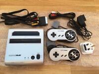 Retro-Bit Retro Duo Silver Games Console - plays Nintendo SNES and NES games