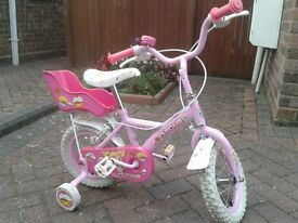 Pink/white bike