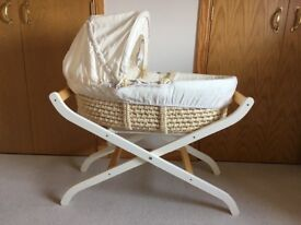 SOLD Mothercare Moses Basket & Stand