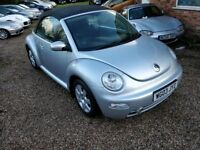 Volkswagen Beetle 2.0 Cabriolet,Aircon,CD player,Alloys,Full service history,New MOT,Hpi Clear