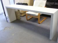 White Long Console Table or Shelf Unit. Good Condition