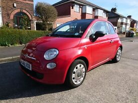 FIAT 500 Convertible 1.2L Red 2010