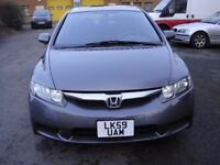LEFT HAND DRIVE 2010 HONDA CIVIC PETROL 1.8 LX-S AUTOMATIC 4 DOOR AIRCON ETC