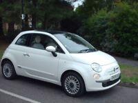 FIAT 500,1300CC DIESEL,2009.WHITE.