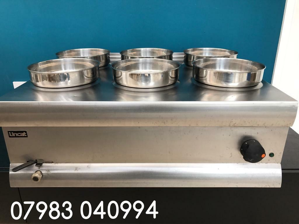 Top of the range Lincat silverline 6 pot wet bain Marie