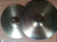 "Flat Arbiter Hihat cymbals 13"""