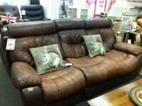 Great brown leather suite
