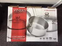 Viners saucepans/ cookware set - brand new - set of 5