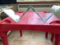 Lovely glass CD rack in excellent condition