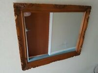 Hand Crafted Ornate Pine Framed Mirror