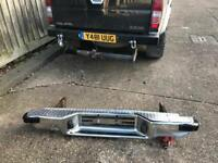 Clean and tidy nissan d22 Navara chrome rear bumper 97-01