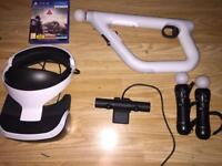 Sony VR with Sony camera, Aim Controllor and 2x Motion Contollors