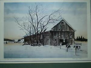 "Robin Zefers Clark-""The Heifer Barn""-Limited Edition Print Kitchener / Waterloo Kitchener Area image 5"