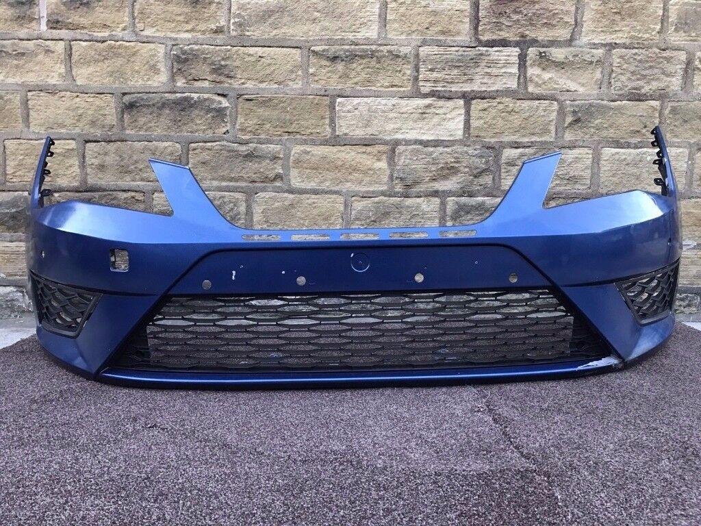 2015 SEAT LEON CUPRA FR MK3 - FRONT BUMPER in BLUE inc GRILLS - Pls Read Advert