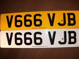 PRIVATE PLATE V666VJB ON RETENTION FEES PAYED