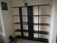 Black Shelving Unit to sell