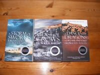 Three brand new books by George R.R. Martin (Game of Thrones)