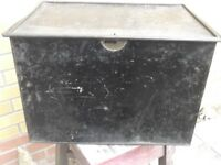 LOVELY OLD TIN TRUNK # TAKE A LOOK # BARGAIN