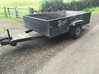 Trailer fully lined with aluminium sheets