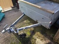 Caddy 640T twin axle goods trailer.