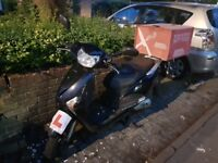 Quick buy!! Motorbike with box and helmet and one year MOT and road tax
