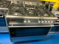 Stainless steel baumatic 90cm dull full cooker grill & ovens good condition with guarantee