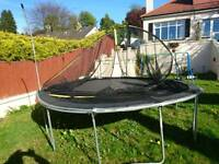Trampoline and swing set